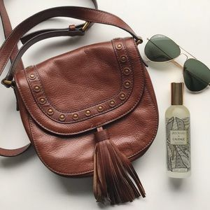 NEW Fossil Leather Tassel Crossbody Bag